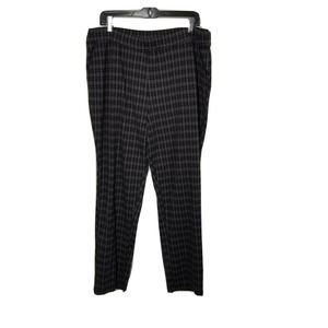 Woman within 22w plaid pull on Pants stretch